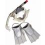 Набор Акула маска, трубка, ласты Ocean ORS6013