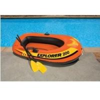 Лодка Explorer 200 весла и насос, 185х94х41 см. Intex 58331